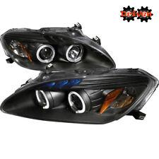 For  00-03 Honda S2000 S2K Halo Projector Headlights LED Black Housing