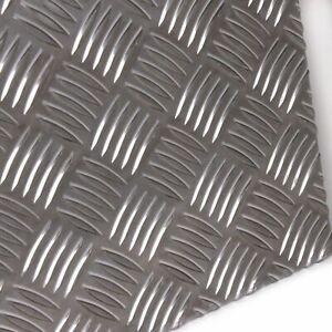 Alu Riffelblech Stärke 5,0/6,5 mm Quintett Warzenblech Zuschnitt nach Maß