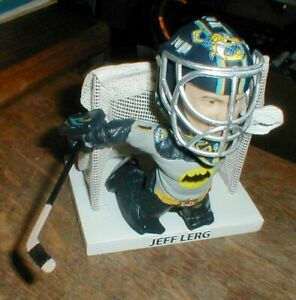 Toledo Walleye Jeff Lerg BATMAN Bobblehead GOALIE ECHL Detroit Redwings w/ STICK