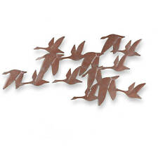 Southern Enterprises Flock of Geese Wall Art, Brushed copper finish