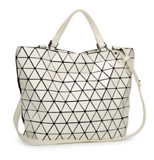 4705e183ede7 NEW STYLE High Quality BAO BAO Issey Miyake Metallic IVORY TOTE Bag NEW