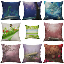Cotton Linen Printing Visual images Flower Pillow Case Cushion Cover Home Decor