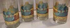 VINTAGE CRISA GLASS GLASSWARE 12 oz ICE TEA TUMBLER_LOG CABIN FARMLAND FARMIMG 4