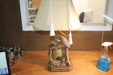 Sterling Industries Pair of Birds Living Room Table Lamps Brass Finish As-IS