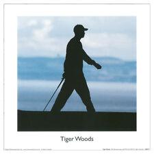 Tiger Woods Silhouette FINE ART PRINT. Golf Sport Legend 30x30cm
