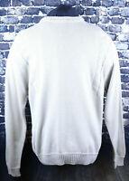 Arnold Palmer Beige Crewneck L/S Sweater Size Medium Vertical Pattern