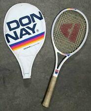 Vintage Donnay Bjorn Borg Ceramic Signature Tennis Racquet & Cover