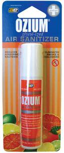 Ozium Smoke & Odor Eliminator car & Home Air Sanitizer / Freshener 0.8oz CITRUS