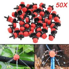 50x Adjustable Micro Drip Irrigation Watering Emitter Drippers Sprinklers Plants