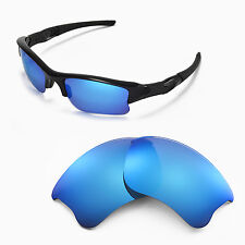 New Walleva Ice Blue Replacement Lenses For Oakley Flak Jacket XLJ Sunglasses