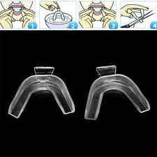 2Pcs Silicone Teeth Whitening Guard Thermoform Moldable Mouth Teeth Dental Trays