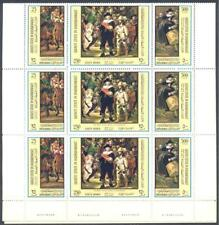 Manama 1970 The Life Of Michelangelo Paintings Religion Pope Paul Deluxe Mnh Briefmarken Europa