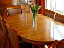 BRADLEY YEW EXTENDING DINING TABLE AND 6 CHAIRS