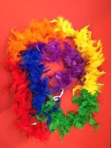 Gay pride rainbow Boa 6 foot long New  Free Shipping USA