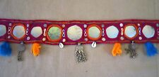 VINTAGE OLD Banjara TRIBAL MIRROR BELT COIN Textile Bellydance GYPSY ATS 21