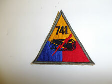 b0604-741 WWII US Army Armored Tank Battalion Triangle patch 741st PB3