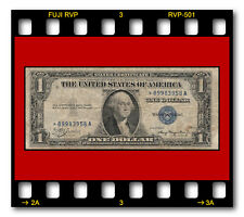 USA FR. 1608 KL#1453 1935A STAR SILVER CERTIFICATE $1 DOLLAR BANKNOTE BLUE SEAL