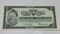 1974 Canadian Tire 5 Five Cents CTC-S4-B-Q-N Circulated Money Banknote E052