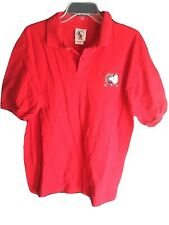 Vintage Disney Mickey & Co. Mens Large Mickey Golf Red Polo Shirt Usa