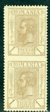1893 King Carol,SPIC,Wheat Ear,Romania,99 Y,1 BAN,Middle Imperforated/Error,MNH