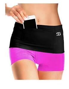 Stashbandz Running Belt Fanny Pack Money Insulin Pump Belt 4-Secure Pocket Black