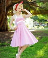 PINUP COUTURE DAISY DRESS SMALL in red gingham - retro, swing, rockabilly