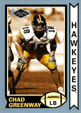 OLD-SCHOOL Chad Greenway INSERT-RC Iowa HAWKEYES