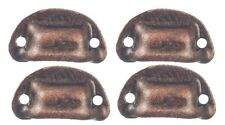 Dollhouse Miniature Set of 4 Victorian Drawer Pulls in an Oil Rubbed Bronze F...