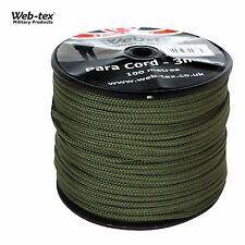 Web-Tex Paracord 325ft /100M Paracord Basha Tent Army Olive Green Camo Reel