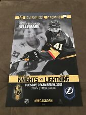 NHL Vegas Golden Knights vs Tampa Bay Lightning Game Poster 17/41 Dec 19 2017