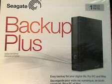 Brand New-Seagate Backup Plus 1TB Desktop External Hard Drive-USB 3.0STCA1000100