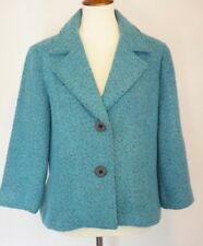 CAbi Womens Size 14 #186 Boucle Blazer  Turqoise Wool EUC work career