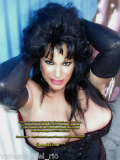 Vanessa del Rio ADULT Star PHOTO Black Leather Gloves! Signed AFT BUY w/COA