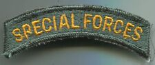 US Army SPECIAL FORCES Full Color Patch Tab Cut Edge