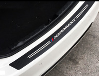 BMW M sport performance car bumper sticker Trunk Rear Protector CARBON FIBRE