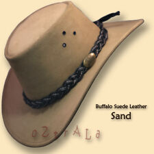 ca9ce74c07c □oZtrALa□ BUFFALO Suede LEATHER Hat Cowboy Mens Womens Childrens Kids  AUSTRALIAN