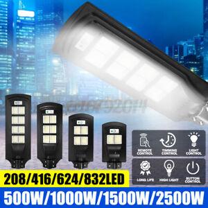 500W-2500W Street Light Wall Solar Powered Road Lamp Motion Path W/ Remote UK
