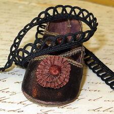 4 YDS Vintage Tiny BLACK LOOP Trim Tiny Doll Dress Antique French Fashion Edging