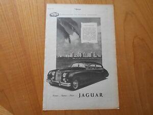 Vintage Jaguar Advert -- Original -- from 1955