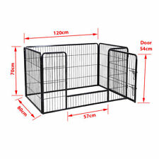 Extra Large 4 Sided Heavy Duty Pet Puppy Playpen Crate Pen Welping Dog Cage UKED