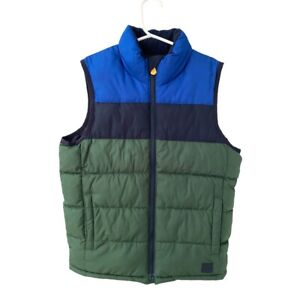 Gap Kids Boys Puffer Vest Size Small 6-7 yrs Blue Green