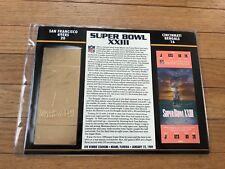 Super Bowl 23 49ers vs. Bengals 22kt Gold Ticket Panel - Willabee Ward (NEW)