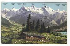 AK Interlaken, Berner Oberland, Bergpanorama, 1908
