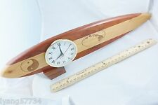 Rose wood Surf Board Clock Island map Hawaiian Hawaii Beautiful Crafted Wooden