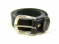 """MENS REAL LEATHER BELT BLACK 1.5""""  FULL LEATHER BELTS MADE IN ENGLAND 26""""- 55"""""""