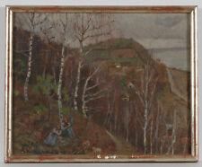 "Vladimir Krikhatzky (1877-1942) ""In Kaniv by Kiev"" oil on canvas, 1930s"