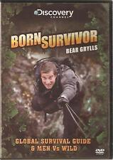 BORN SURVIVOR BEAR GRYLLS - GLOBAL SURVIVAL GUIDE & MEN Vs WILD DVD