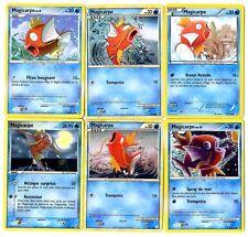 CARTE POKEMON lot de 6 cartes MAGICARPE FRANCAISES Differentes Lot N° MAGI6 001