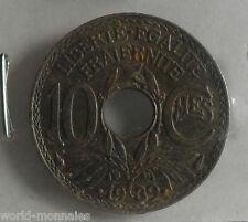 10 centimes lindauer .1939. maillechort : B : pièce de monnaie française