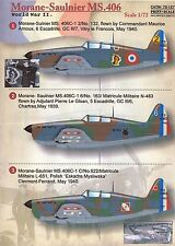 Print Scale Decals 1/72 MORANE SAULNIER MS.406 French WWII Fighter